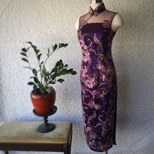 Dresses & Skirts - Mandarin Collar Sequined Qipao / Cheongsam